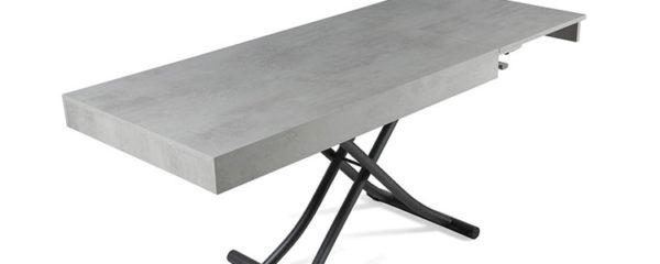 table basse relevable gain de place