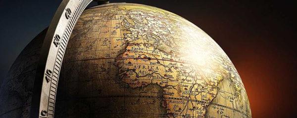 Globe terrestre pour meuble